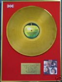 THE BEATLES - LP  24 Carat Gold Disc -  LET IT BE